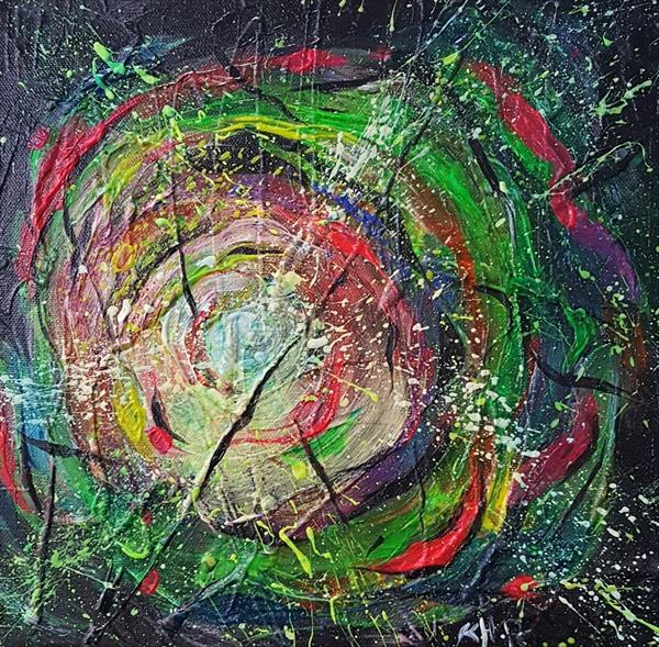 'Thoughts' Original Abstract Painting by Kat  Herrgott-Penter