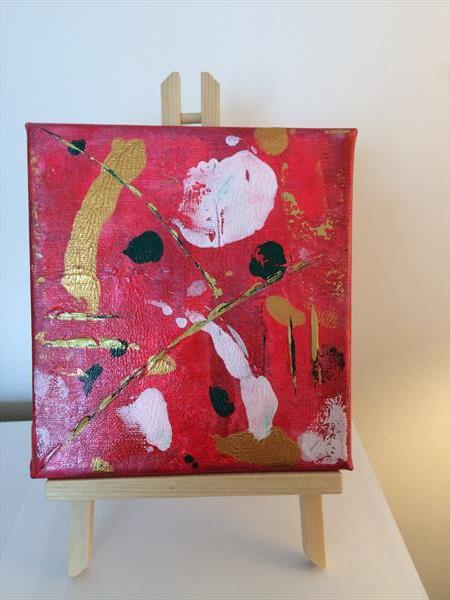 Original Painting complete with Easel by Rosie Cunningham
