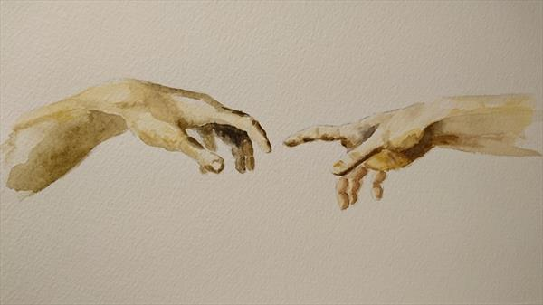 Study of Hands Creation of Life Hands by Elena Haines