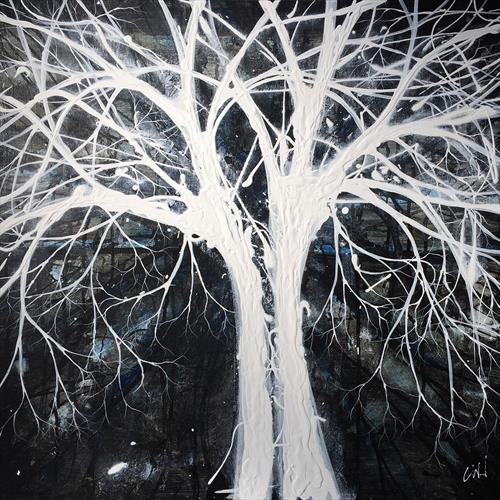 Black & White love Trees by Carol Wood