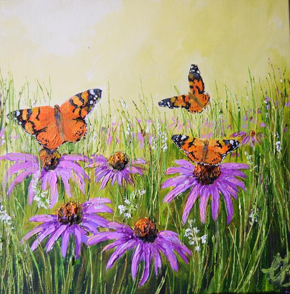 Painted Ladies by Colette Baumback