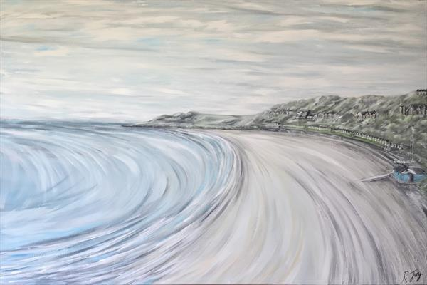 A Sweeping View of Langland Bay by Rebecca Jory