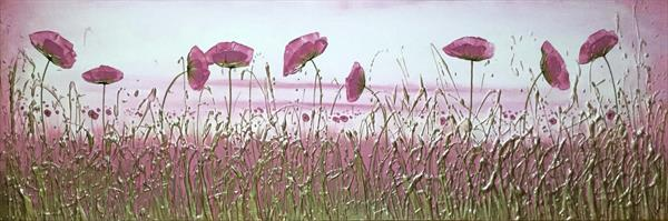 Rose Tinted Landscape by Carol Wood