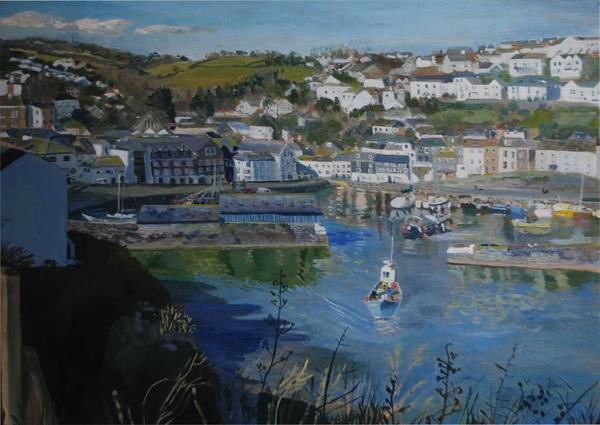 Gone Fishing, Mevagissey by Sue Mann