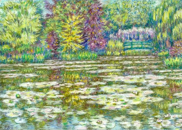 Monet's waterlily pond Giverny by Patricia Buckley