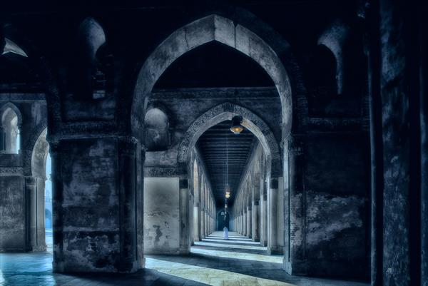 Ibn Tulun Mosque. Cairo. Egypt. Large Format. by Peter Bowater