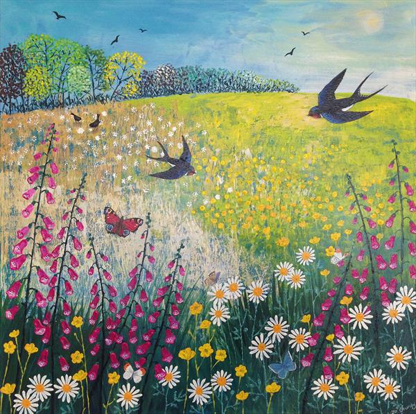 Butterflies and Swallows by Josephine Grundy