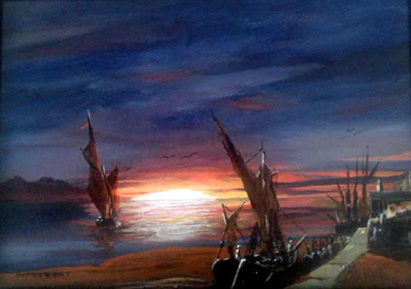 Sunset Sails by Michael Hughes