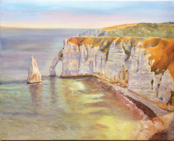 The Cliffs Etretat by Beatrice Cloake