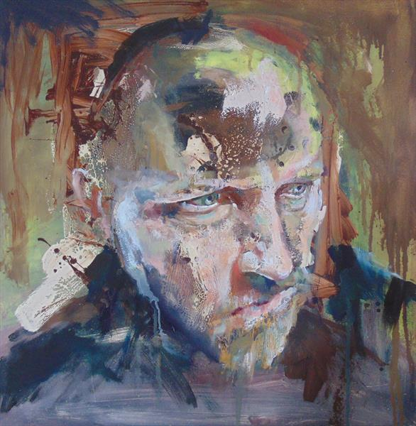 Self Portrait - Bald by Lee Jenkinson