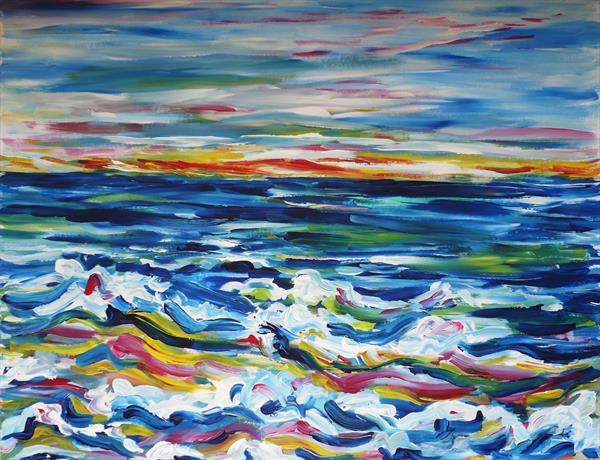 Breaking Waves at Dawn by Diana Shaul