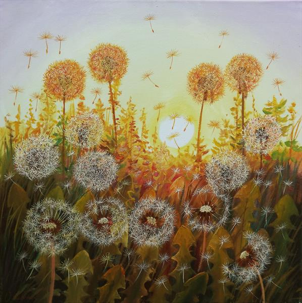 Dandelions in the Sun 2 by Oleg Riabchuk
