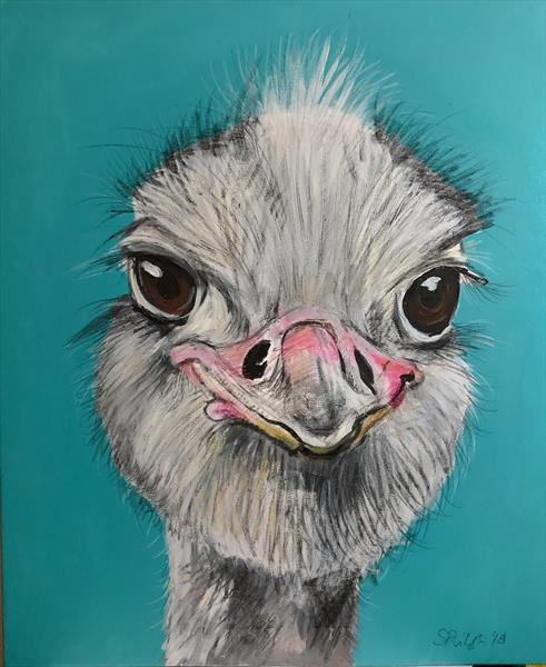 Ozzy Ostrich  by Serena Phillips