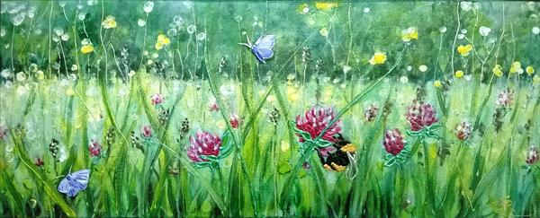 A Bee'sEye View & Common Blue by Theresa  Robinson