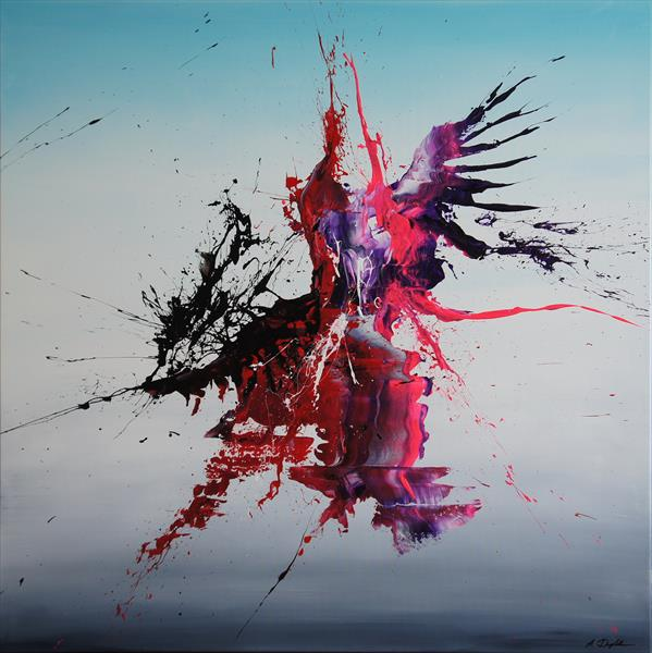 On A Wing And Prayer (Spirits Of Skies 100036) (100 x 100 cm) XXL (40 x 40 inches) by Ansgar Dressler