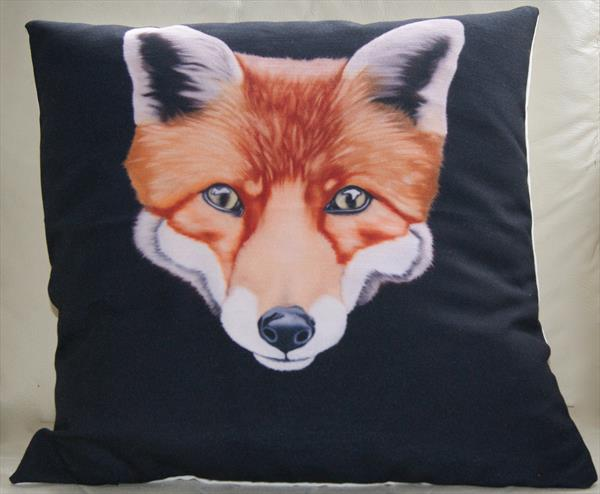 'Sly' fine art cushion. by Steven Shaw