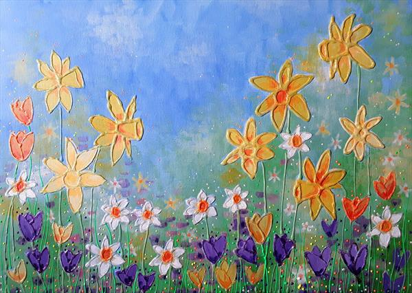 Spring Flowers by Angie Livingstone