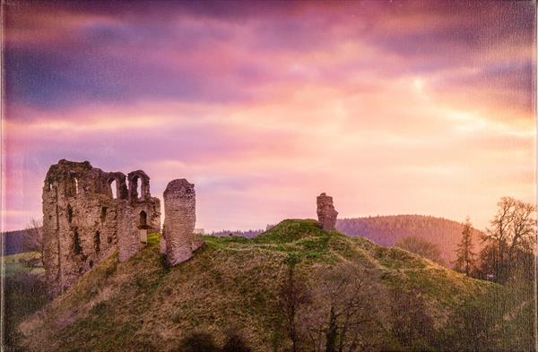 Clun Castle at Dawn by Lindsey Bucknor OBE