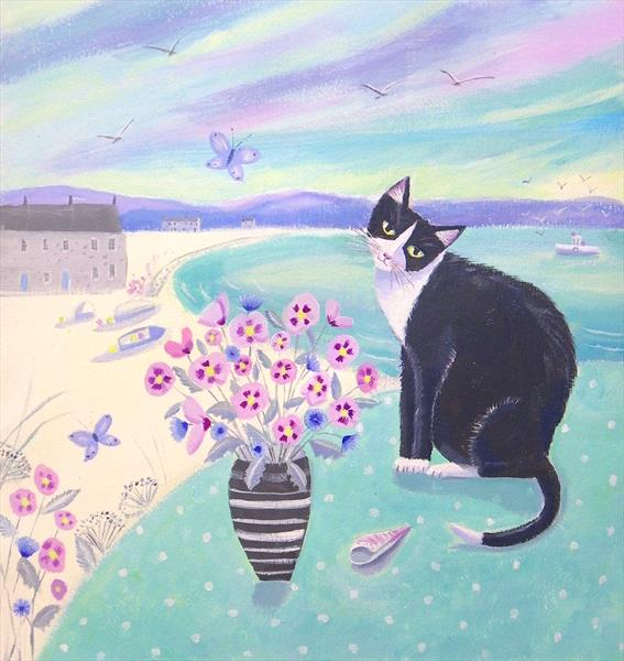 A Cat in Cornwall by Mary Stubberfield