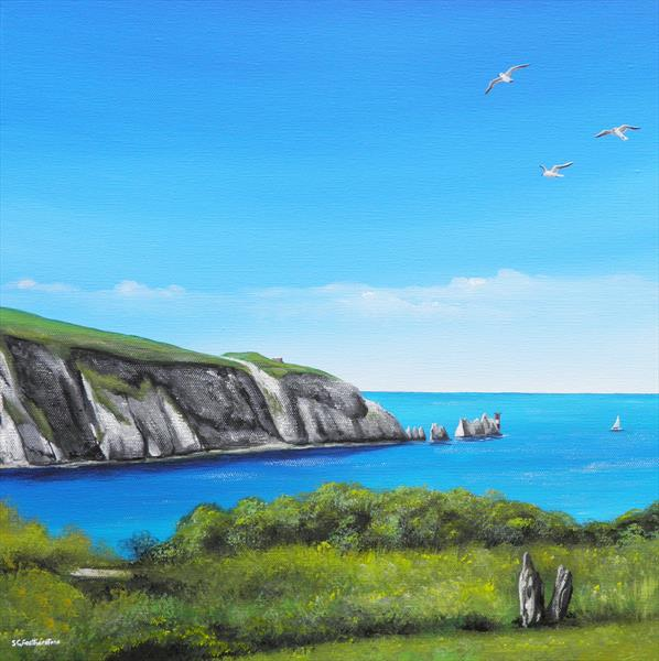 Isle Of Wight Needles by Sarah Featherstone
