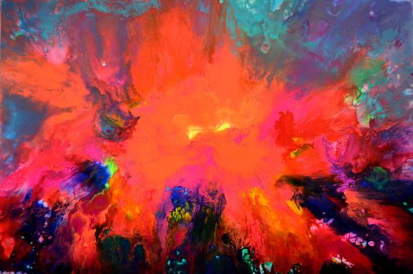 The Light - 120x80 cm - Large Abstract, Big Painting - Ready to Hang, Office, Hotel, Restaurant by Soos Tiberiu - Anton