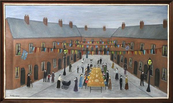 VE Day Street Party - Salford by Ronald Haber