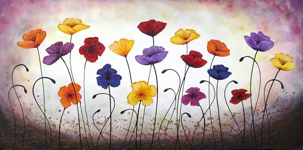 Engaging Poppies - Xl Painting