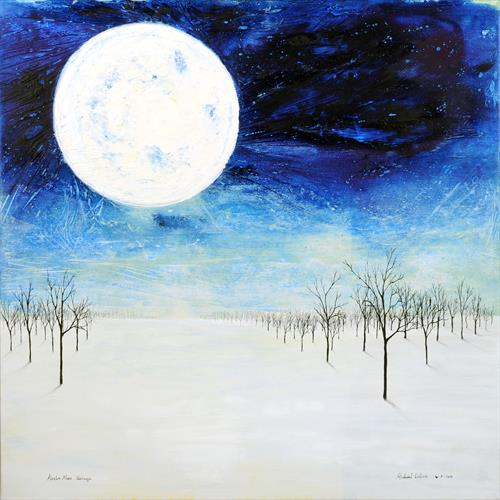 Alaska Moon - Passage (Framed in a white flat wood with an inner white slip) by Michael Galliah