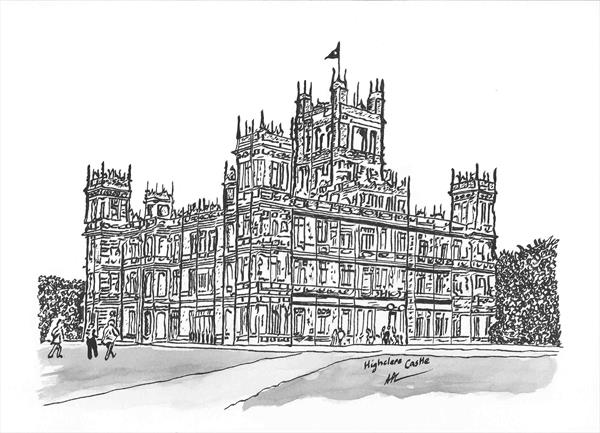 Highclere Castle by Alan Parkin-Coates