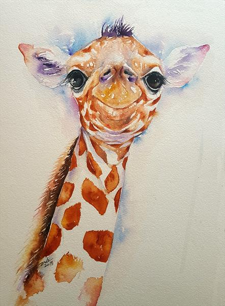 Elvis the Baby Giraffe by Arti Chauhan