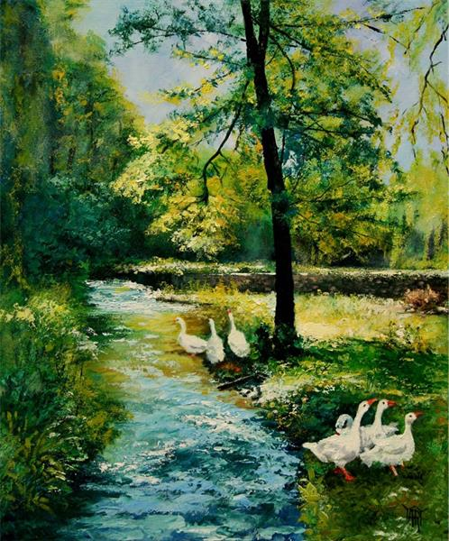 Summer Geese by Yary Dluhos