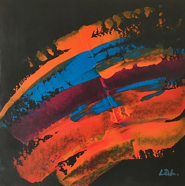 Orange Blue Strata 1212 by Lorna Lancaster