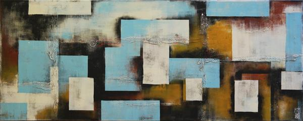 Abstract Painting - City Squared Landscape - 450 by Ronald Hunter