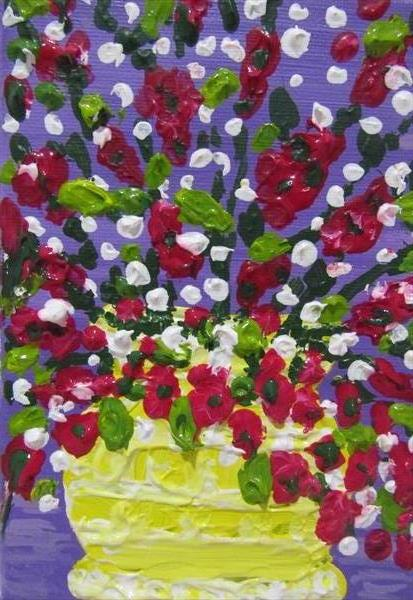 Vase of Flowers 2 by Francoise Booth
