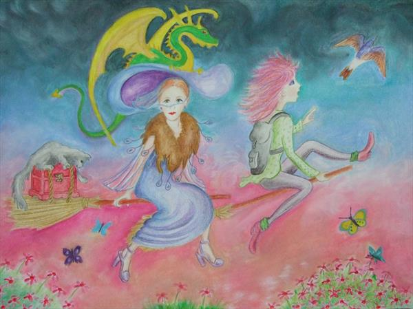 The Dragon, Witches and Treasure Chest by Mary Ballentine
