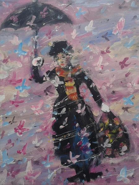 Mary with Butterflies