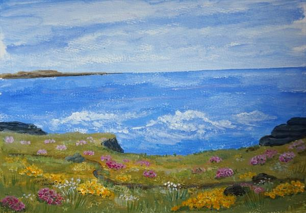 Path Along The Cliffs by Janet Davies