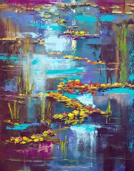 Evening by the Waterlily Pond by Elizabeth Williams