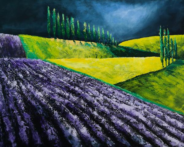 The Lavender and the storm - Fields and Colors Series by Danijela  Dan