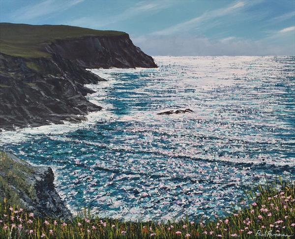Porthcothan Cliffs by Paul Acraman