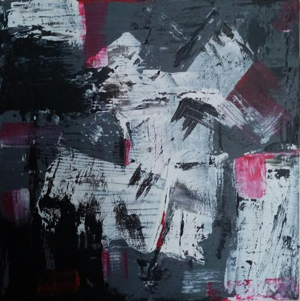 Neutral Coarse Abstract ft. Red by Anne Louella