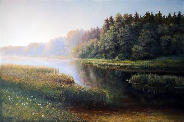 Morning on the river by Oleg Riabchuk