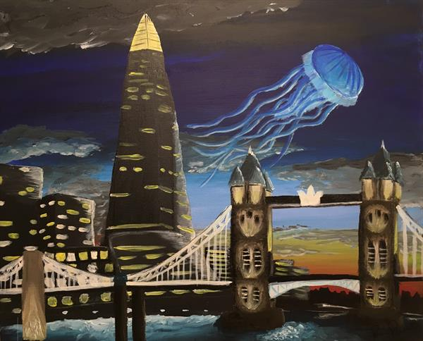 Jellyfish On The Thames by Ritchie Powles