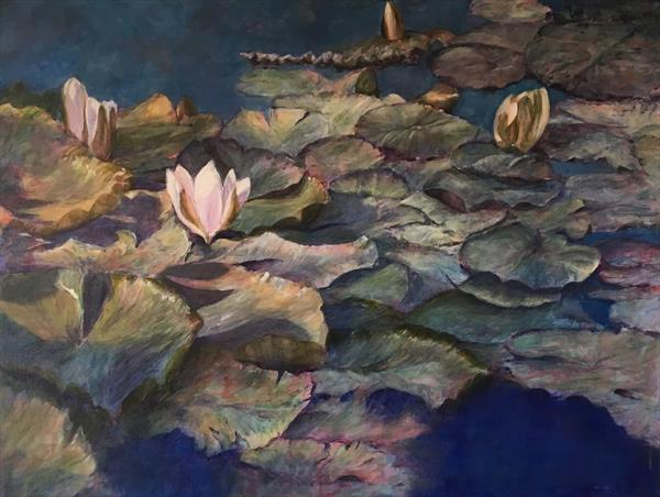 The Water Lily Pond by Caroline Wood