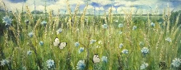 Meadowland - True Blue in Bisley by Theresa  Robinson