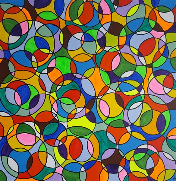 Abstract circles 7 by Lee Proctor