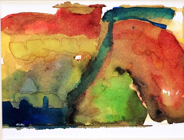 Misty Watercolour Memories IV by Maxine Martin