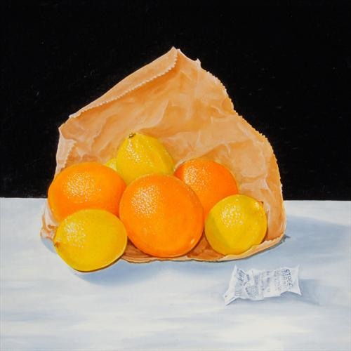Navel Oranges With Lemons by David Fright