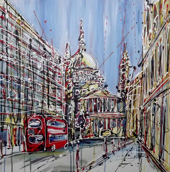 St Paul's (a street view) by Keith Mcbride