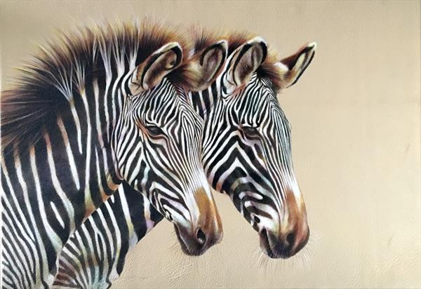 Zebras: Seeing Double by Karl Hamilton-cox